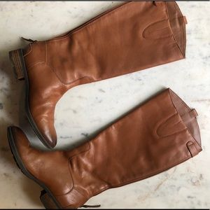 Sam Edelman Penny Leather Riding Boots in Whiskey